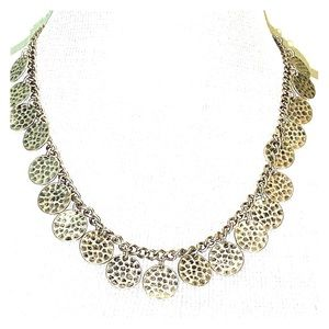 Jewelry - Silver Hammered Disc Necklace